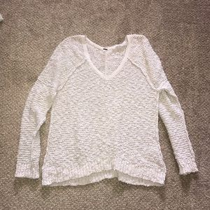Pale gray free people sweater